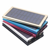 portable Solar mobile phone Power Bank waterproof Solar Charger 8000mAh rohs power bank 6000mah