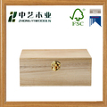 Wholesales handmade hinged plain paulownia wooden packaging boxes