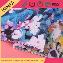 Professional manufacture Garment use knitted ramie style print fabric