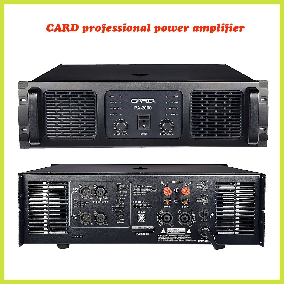 2 channel 2000W powerful power hf linear amplifier multimedia amplifier