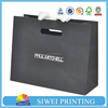 2015 Custom Luxury recycle big black card paper bags for shopping & packing