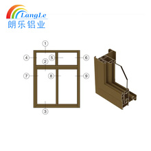 Door and window aluminium profile extrusion aluminium 6060 t6