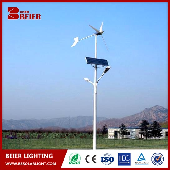Most Advanced wind solar hybrid street lights CE approved wind generator 400W led 40W lights