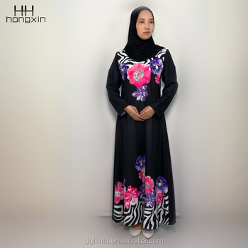 Latest abaya designs black color jubah back open Turkish Islamic clothing wholesale for women