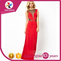 Low Price High Quality Wholesale Size Customized Women Designer Chiffon One Piece Dress for women