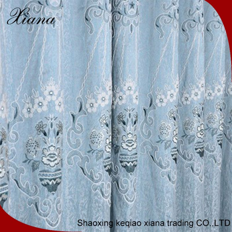 printing elegant drapes fancy door flame retardant kitchen curtain, blackout indian silk curtain