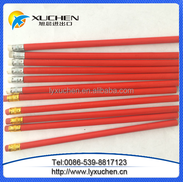 custom LOGO advertising promotional black pencils with eraser topper