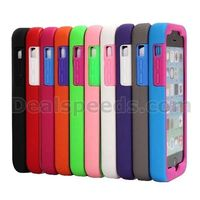 Holder Detachable Hybrid Silicone +PC Hard Back Case for iPhone 5C