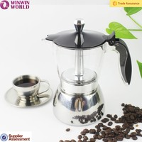 4/6 Pot Coffee Maker Pot Top Selling, Portable Coffee Tools Turkish Aluminum Espresso Coffee Maker