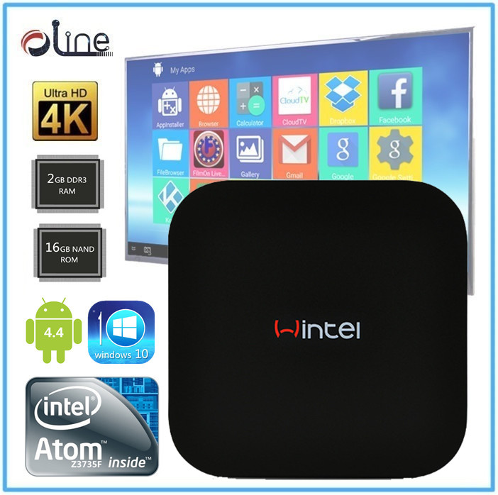 Newest Model Intel Bay CUP 802.11 a/b/g/n W8 win8 tv box android tv box full hd media player 1080p