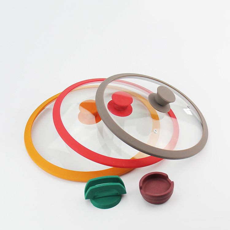 High temperature resistant silicone lid tempered glass lid