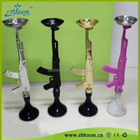 New arrival colorful huge vapor ak47 shisha hookah gun