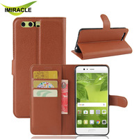 Hot Selling PU Leather Card Slot Flip Cover For Huawei P10 Plus Wallet Case