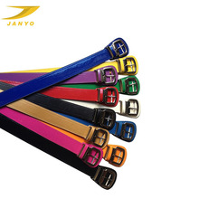 Leather factory hot sale fashion candy color leather baseball belt