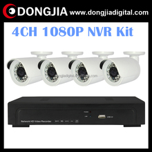 DONGJIA SONY IMX222 1080P Real time Waterproof IP66 outdoor Bullet IP Camera 4CH 1080P POE NVR Kit