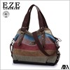MDZ-550379819727 cheap name brand wholesale fashion stripe bag large size colorful women handbag