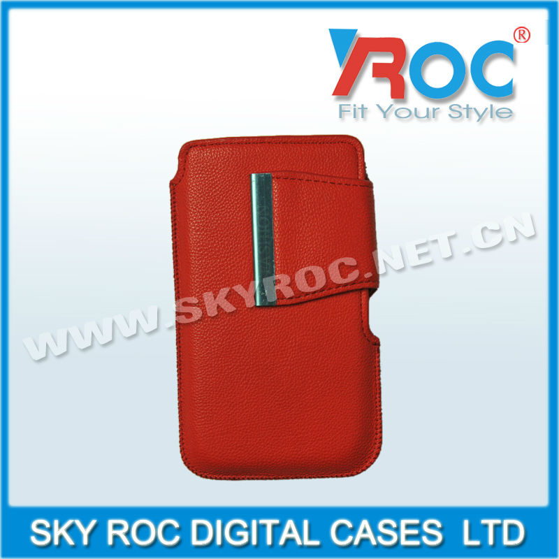 Leather Case Pouch for samsung galaxy S2 I9100,For iphone 4S 5G