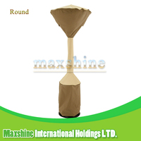 Veranda Easily Cleaned Waterproof Round Base Beige and Brown Stand Up Patio Heater Cover