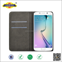 Wholesale alibaba leather flip stand wallet case for Samsung galaxy s6----laudtec