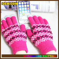 Smartphone touch sensitive winter customized gloves for touch screen