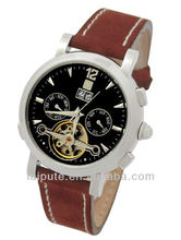2013 top new automatic leather band business women brand watch