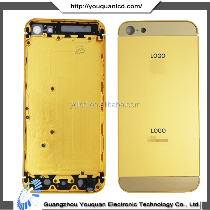 For apple iphone housing,for apple iphone 5 24kt gold cover