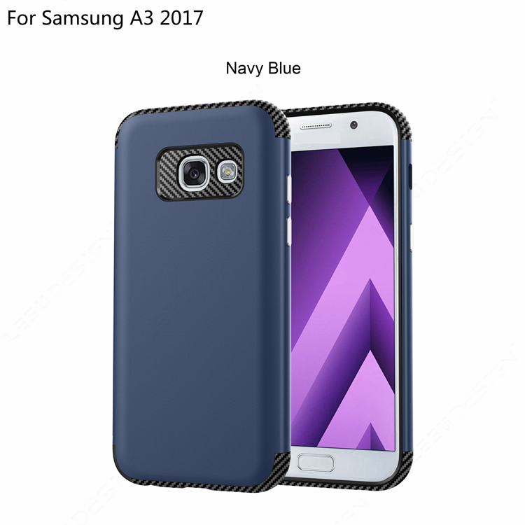 Best selling carbon fiber 2 in 1 shockproof bumper case cover for samsun g galaxy a3 2017