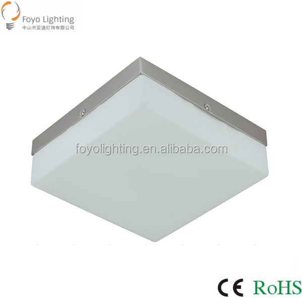 Top Classic Light E27*2 205mm Square Opal Glass with Chrome base Ceiling Lamp for Balcony/Plafon