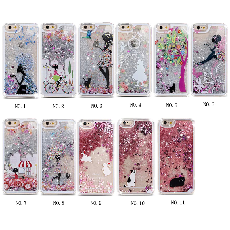 Wholesale Fashion Design 3D Liquid Star quicksand Hard PC mobile phone case for iphone 6 6s