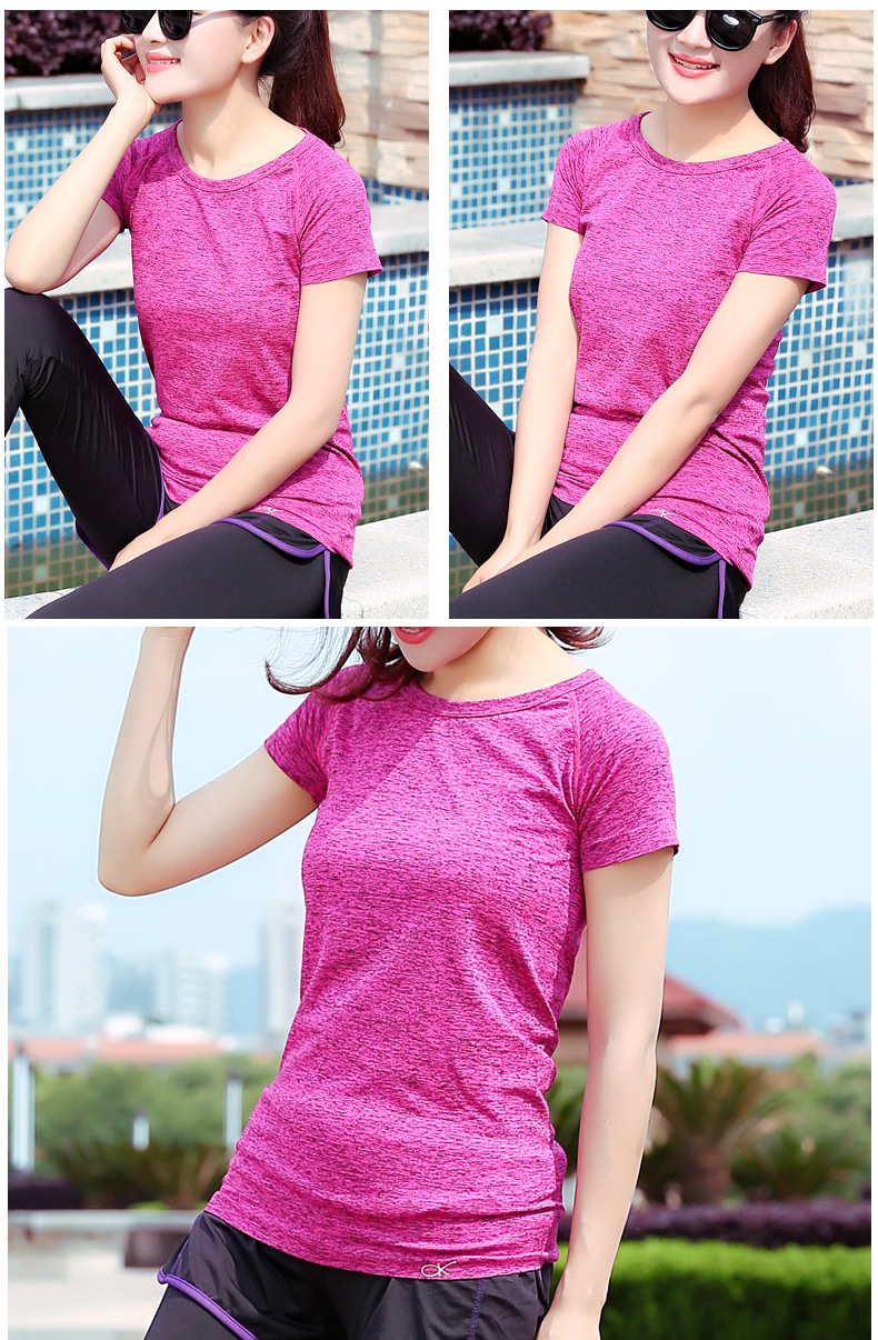 Wholesale cheap quick dry dri fit fitness gym running yoga shirt