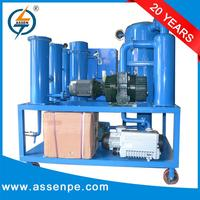 High efficiency double stage insulation oil filtration system