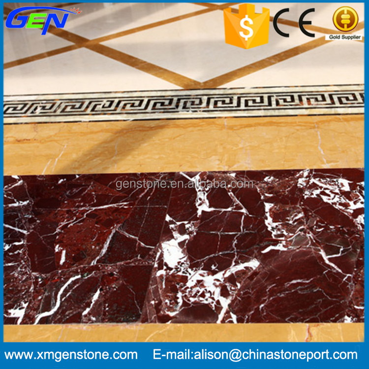 Natural Red Rose Levanto Marble Slab