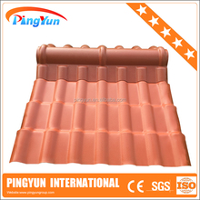 UV protection Lightweight Plastic roofing materials/Synthetic Resin roof tile ASA coated/PVC UPVC APVC roof tile