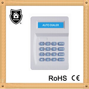 wired home alarm auto dialer with LCD display