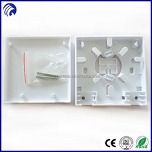 Indoor Waterproof 2 port WB101 plc splitter FTTH Faceplate termination box Distribution Box