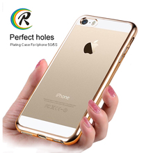 Flexible ultra thin plating case for iPhone 5 factory production phone electroplated shell housing