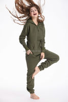 New arrival onesie jumpsuit one piece jump in suit zipped hoodie womens jumpsuits