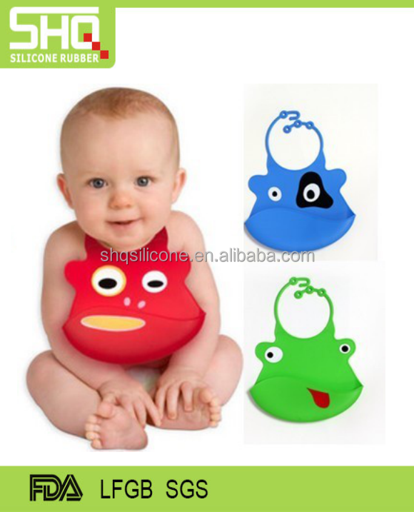 FDA food grade silicone bib for kids for baby care bibs
