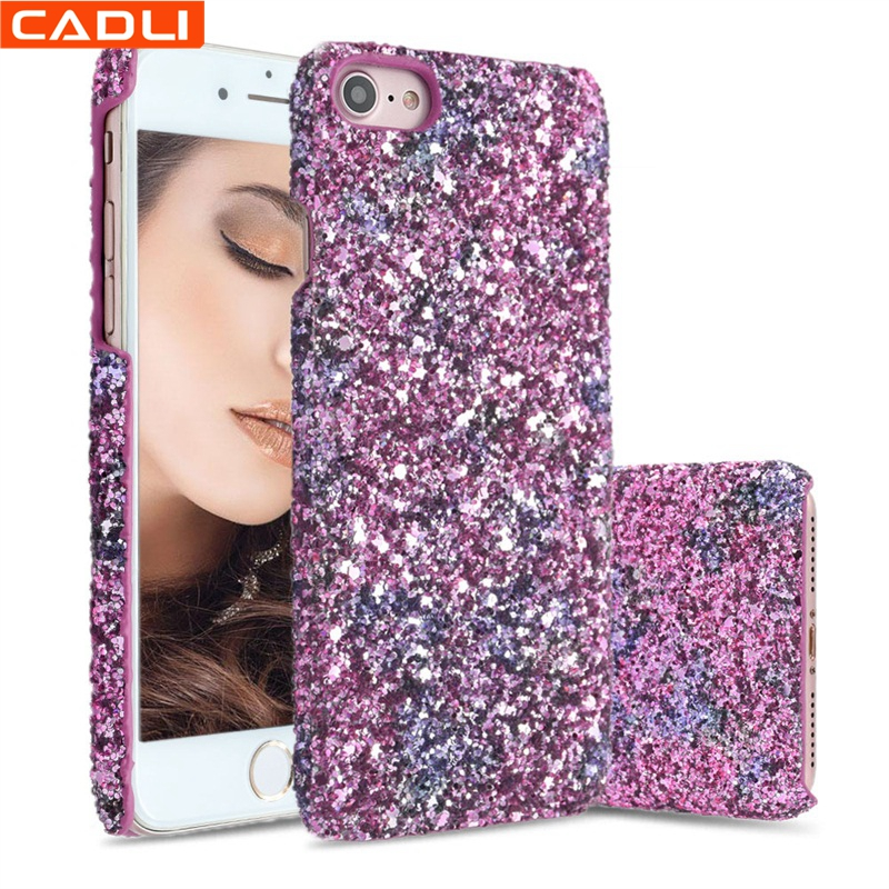 China Bling Bling Stone Hard Plastic Mobile Cell Phone Accessories Case For iPhone 7 7plus 8