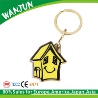 House shaped home key decorate holder keychain
