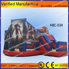 Plane Inflatable bouncer/aircraft jumping castle with obstac/best price on inflatable bouncers