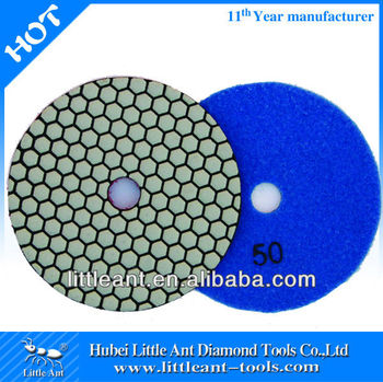 "125mm/5"" the renovator tool of stone polishing pad dry use 50 grit"