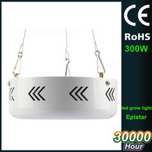 double chip UFO type 3000lm 110V US plug 300W led grow light