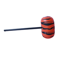 Hard plastic hand inflatable hammer with tiger Logo
