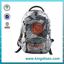Custom Cool basketball pattern day backpack for teens