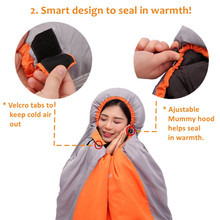 Envelope Sleeping Bag Spliced Adult Portable Lightweight and Comfort Waterproof With Compression Sack 4 Season