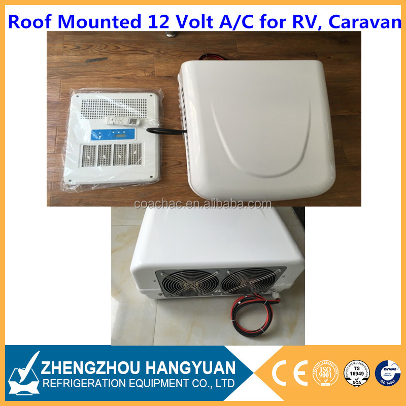 Electric 12v 24v air conditioner rooftop unit for rv, caravan