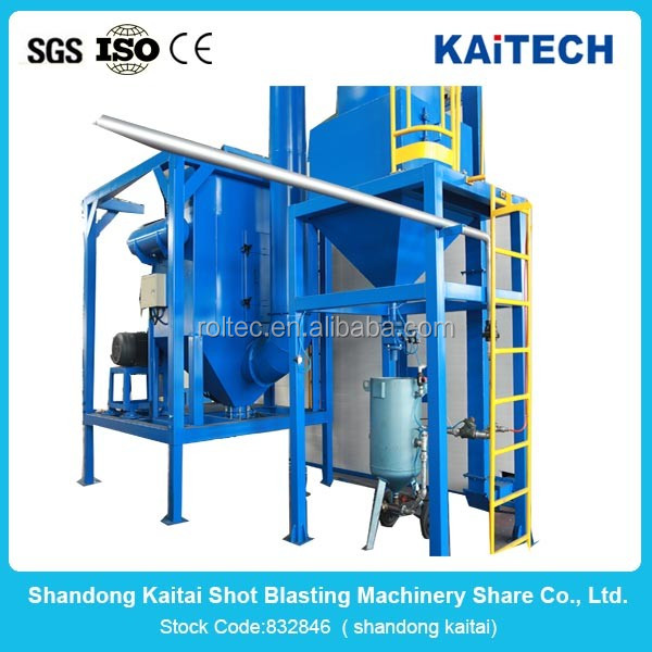 Japan small rotary table shot blasting machine OEM