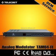 Economic 4 in 1 Fixed Channel Interval Frequency Analog Tv Modulator