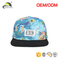 metal band custom hawaii floral printing snapback cap hat